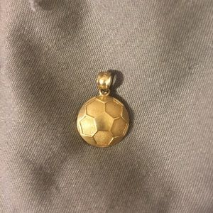 14 kt gold soccer ball necklace pendant
